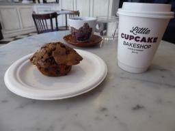 Chocolade banaan muffin en Jasmijn thee